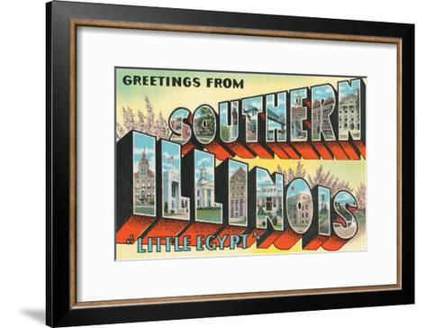 Greetings from Southern Illinois, Little Egypt--Framed Art Print