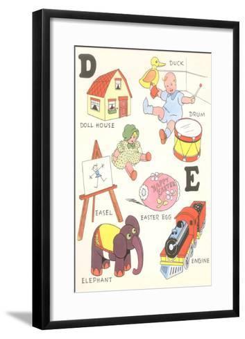 Learning the Alphabet, D and E--Framed Art Print