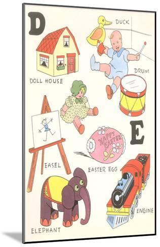 Learning the Alphabet, D and E--Mounted Art Print