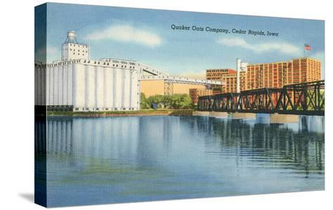 Quaker Oats Factory, Cedar Rapids, Iowa--Stretched Canvas Print