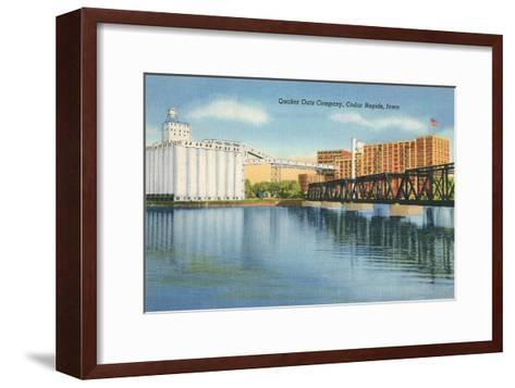 Quaker Oats Factory, Cedar Rapids, Iowa--Framed Art Print