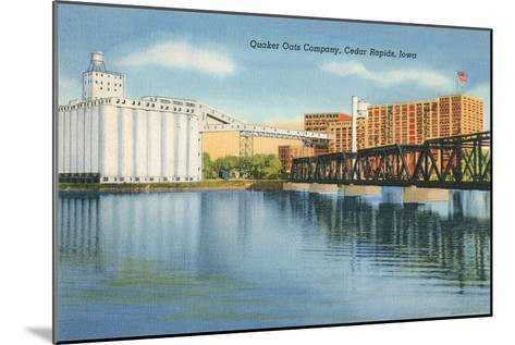Quaker Oats Factory, Cedar Rapids, Iowa--Mounted Art Print