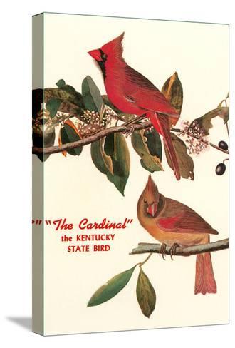 Cardinal, Kentucky's State Bird--Stretched Canvas Print