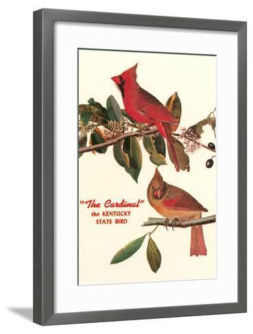 Cardinal, Kentucky's State Bird--Framed Art Print