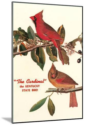 Cardinal, Kentucky's State Bird--Mounted Art Print