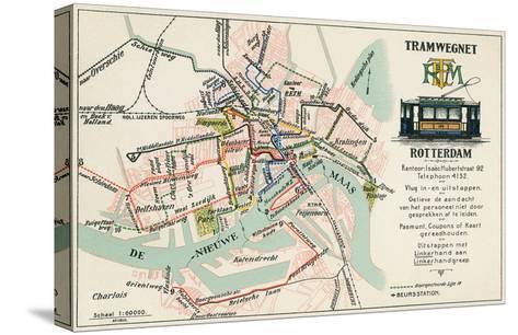 Street Car Map, Rotterdam, Netherlands--Stretched Canvas Print