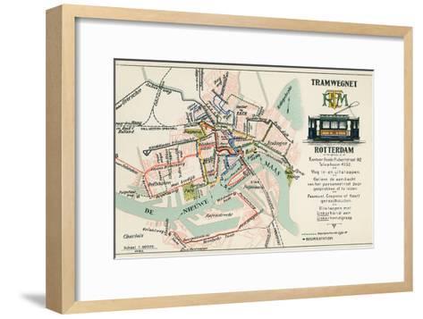 Street Car Map, Rotterdam, Netherlands--Framed Art Print