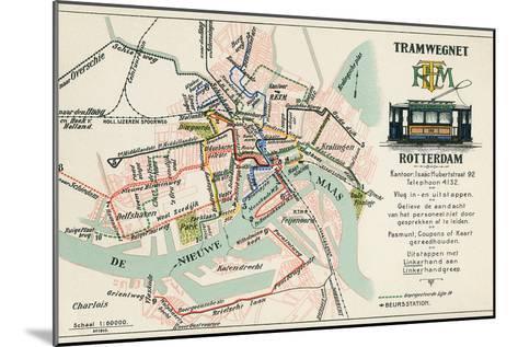 Street Car Map, Rotterdam, Netherlands--Mounted Art Print