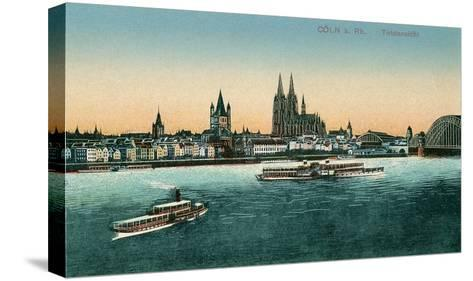 Overview of Cologne on the Rhine, Germany--Stretched Canvas Print