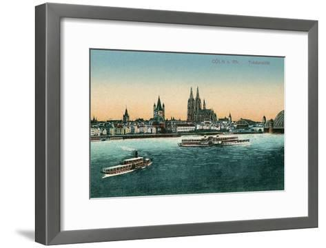 Overview of Cologne on the Rhine, Germany--Framed Art Print