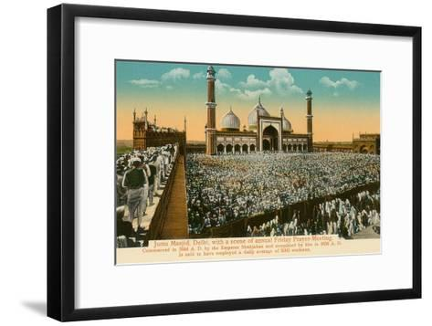 Juma Masjid Mosque, Delhi, India--Framed Art Print