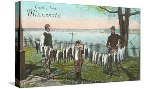 Greetings from Minnesota--Stretched Canvas Print