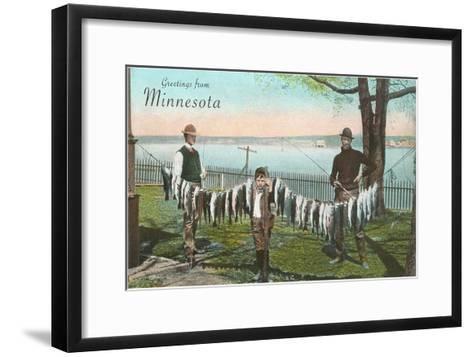 Greetings from Minnesota--Framed Art Print