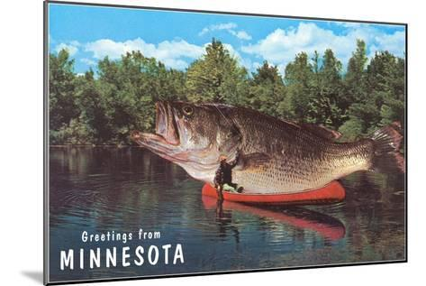 Greetings from Minnesota, Giant Fish--Mounted Art Print