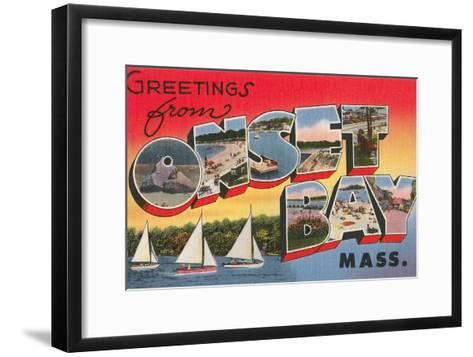 Greetings from Onset Bay, Massachusetts--Framed Art Print