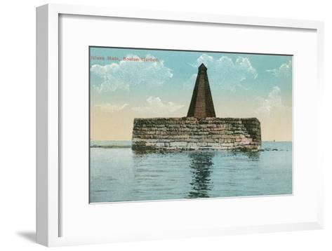 Nixes Mate, Boston Harbor--Framed Art Print