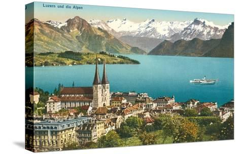 Lake Lucerne, Switzerland--Stretched Canvas Print