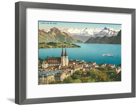 Lake Lucerne, Switzerland--Framed Art Print