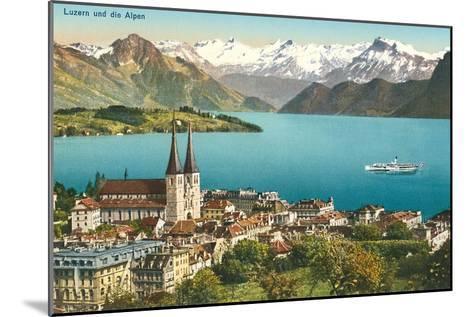 Lake Lucerne, Switzerland--Mounted Art Print