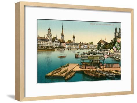Qualbrucke in Zurich, Switzerland--Framed Art Print