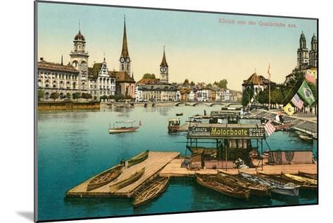 Qualbrucke in Zurich, Switzerland--Mounted Art Print
