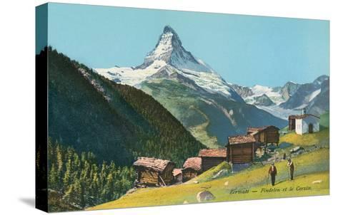 Matterhorn, Findelin Glacier, Swiss Alps--Stretched Canvas Print