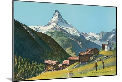 Matterhorn, Findelin Glacier, Swiss Alps--Mounted Art Print