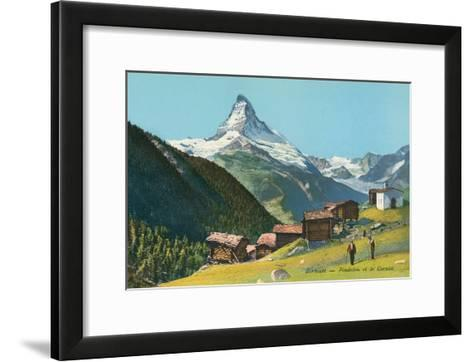 Matterhorn, Findelin Glacier, Swiss Alps--Framed Art Print