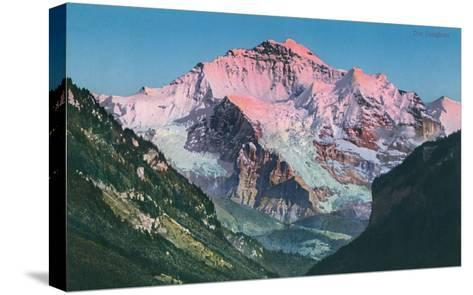 Sun on the Jungfrau, Swiss Alps--Stretched Canvas Print