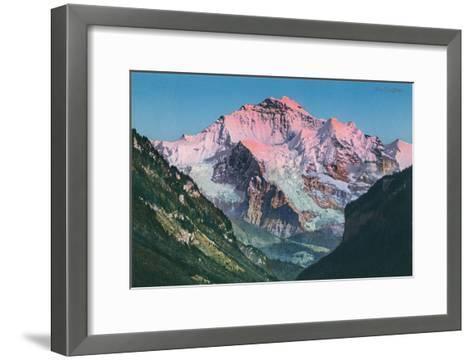 Sun on the Jungfrau, Swiss Alps--Framed Art Print