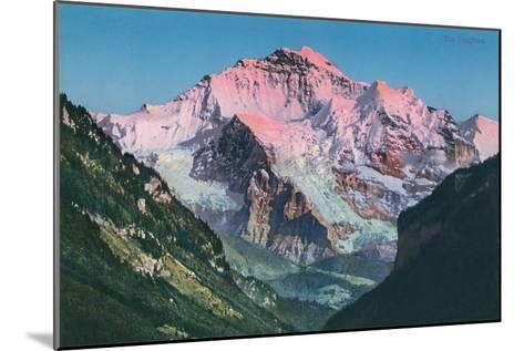 Sun on the Jungfrau, Swiss Alps--Mounted Art Print