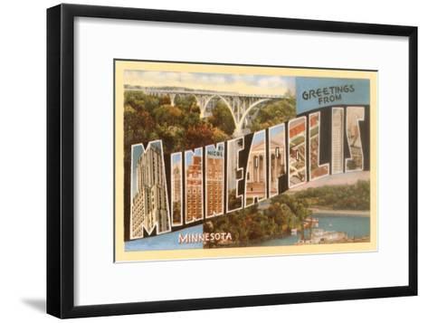 Greetings from Minneapolis, Minnesota--Framed Art Print