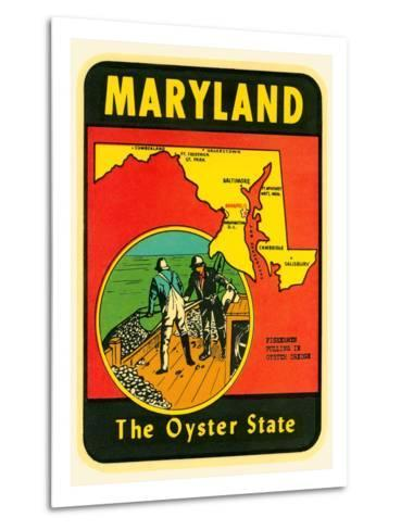 Decal for Maryland--Metal Print