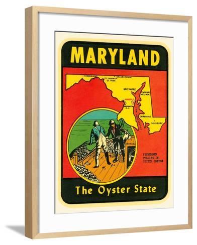 Decal for Maryland--Framed Art Print
