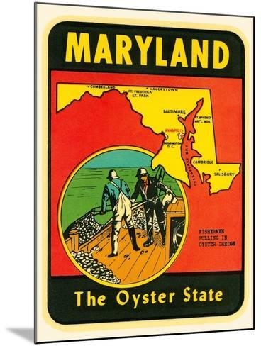Decal for Maryland--Mounted Art Print