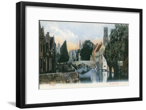 Green Quay, Bruges, Belgium--Framed Art Print