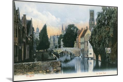 Green Quay, Bruges, Belgium--Mounted Art Print