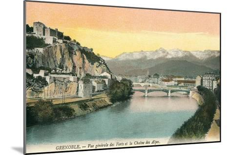 Grenoble, France, with View of Alps--Mounted Art Print