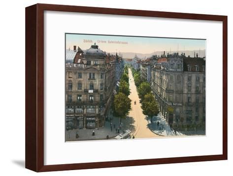 Bahnhofstrasse, Zurich, Switzerland--Framed Art Print