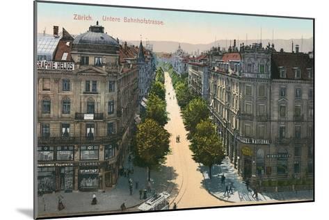 Bahnhofstrasse, Zurich, Switzerland--Mounted Art Print