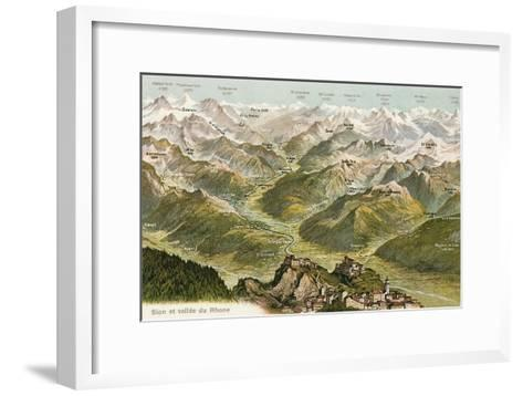 Sion and the Valley of the Rhone--Framed Art Print