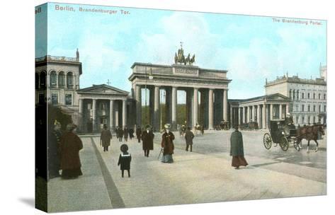Brandenburg Gate, Berlin, Germany--Stretched Canvas Print