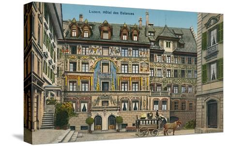 Hotel Des Balances, Lucerne, Switzerland--Stretched Canvas Print