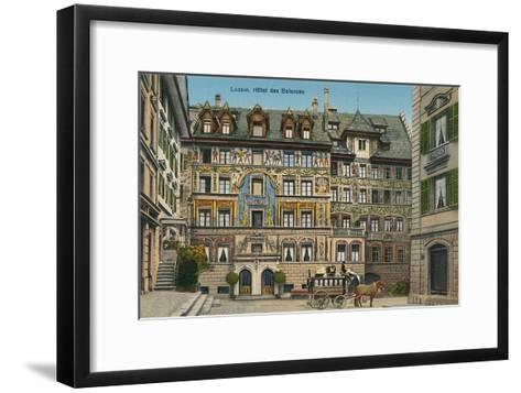 Hotel Des Balances, Lucerne, Switzerland--Framed Art Print
