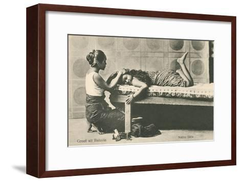 Native Indonesian Girls--Framed Art Print