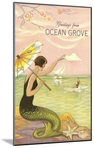 Greetings from Ocean Grove, New Jersey--Mounted Art Print