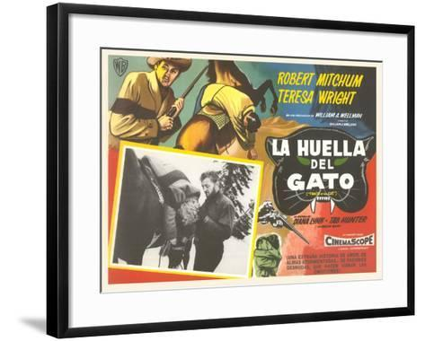 Mexican Advertisement for Cowboy Movie--Framed Art Print