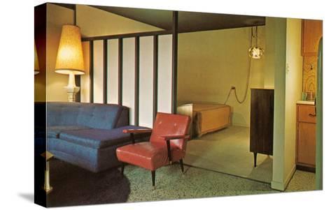 Moderne Motel Suite--Stretched Canvas Print