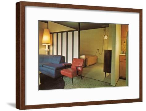 Moderne Motel Suite--Framed Art Print