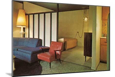 Moderne Motel Suite--Mounted Art Print